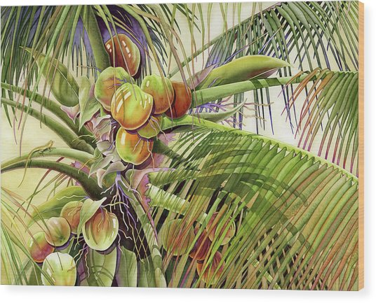 Coconut Palm Wood Print