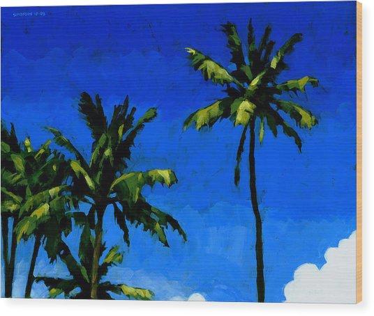 Coconut Palms 5 Wood Print