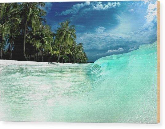 Coconut Water Wood Print