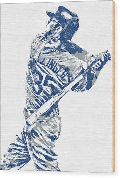 Cody Bellinger Los Angeles Dodgers Pixel Art 10 Wood Print