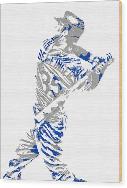 Cody Bellinger Los Angeles Dodgers Pixel Art 2 Wood Print