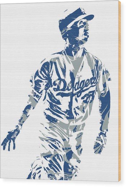 Cody Bellinger Los Angeles Dodgers Pixel Art 20 Wood Print