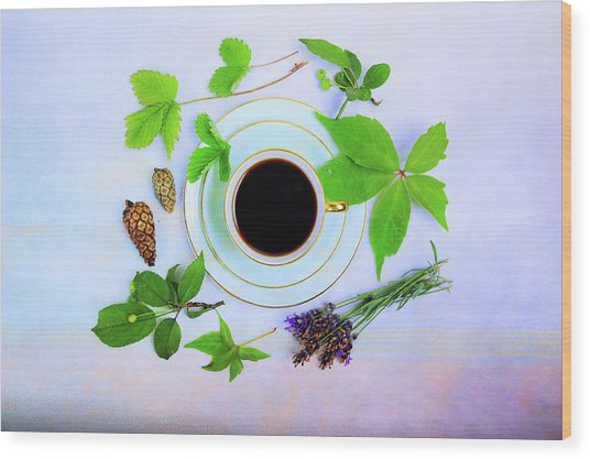 Coffee Delight Wood Print