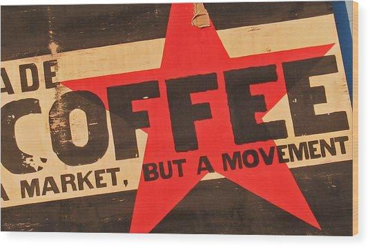 Coffee Wood Print by Gary Everson