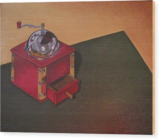Coffee Grinder Wood Print