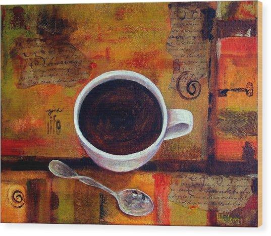 Coffee I Wood Print