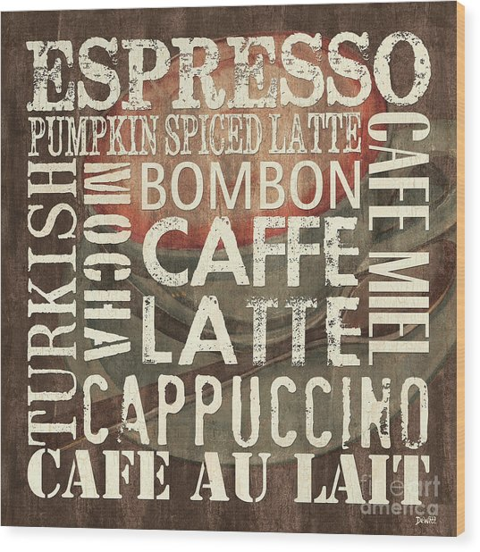 Coffee Of The Day 2 Wood Print