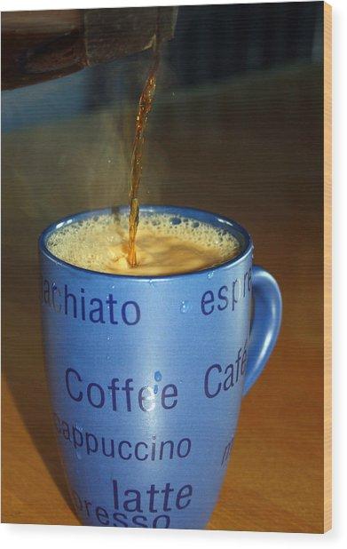 Coffee Please Wood Print