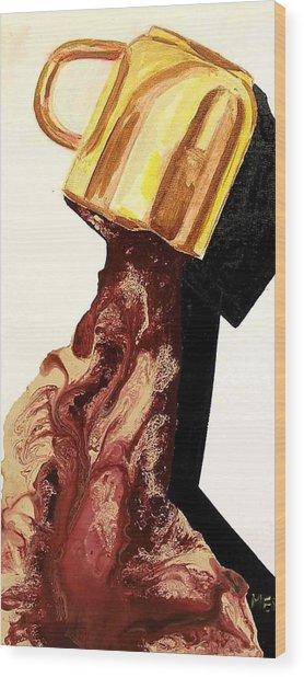 Coffee River Wood Print by Evguenia Men