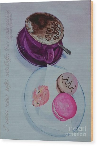 Coffee Wood Print