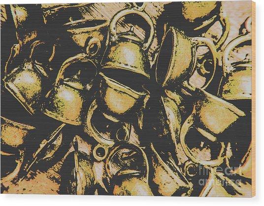 Coffee Shop Abstract Wood Print