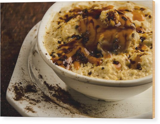 Coffee Souffles With Caramels Wood Print