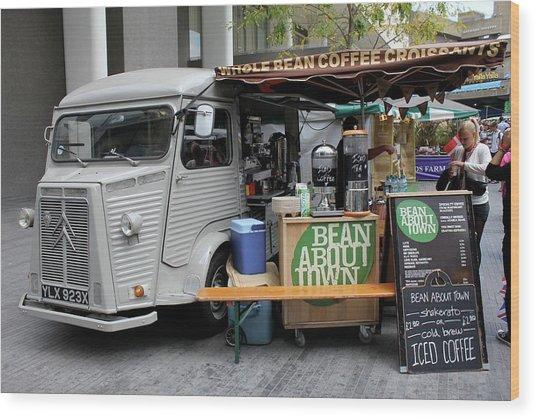 Coffee Truck Wood Print