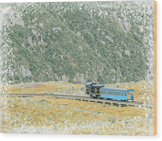 Cog Railroad Train. Wood Print