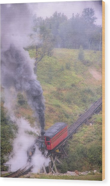 Cog Railway Car Wood Print