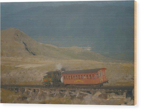 Cog Railway Mount Washington Wood Print