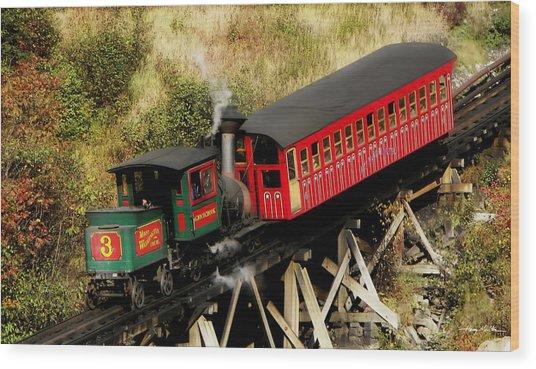 Cog Railway Vintage Wood Print