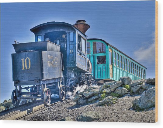 Cog Train Mount Washington Wood Print
