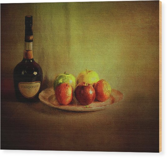 Cognac And Fruits Wood Print