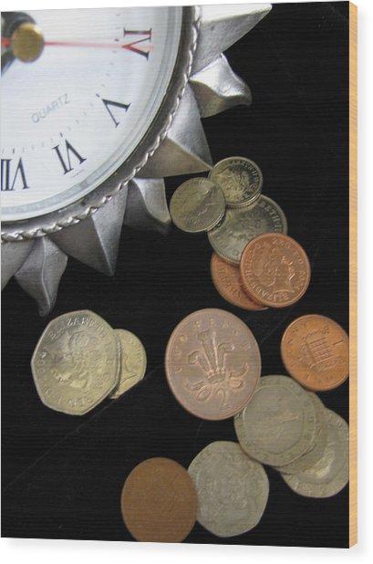 Coins Wood Print