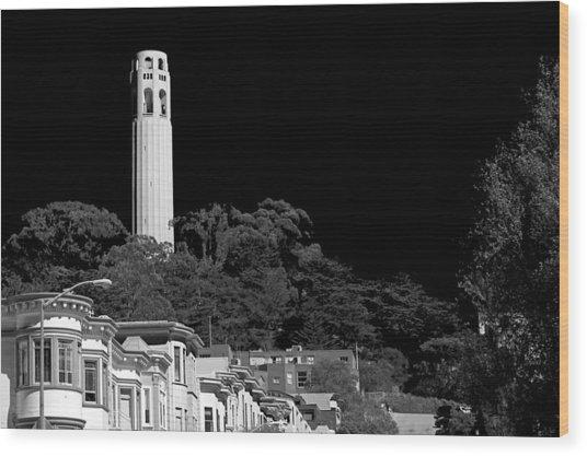 Coit Tower Wood Print