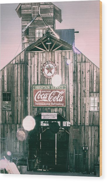 Coke Barn Wood Print