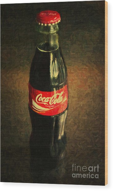Coke Bottle Wood Print