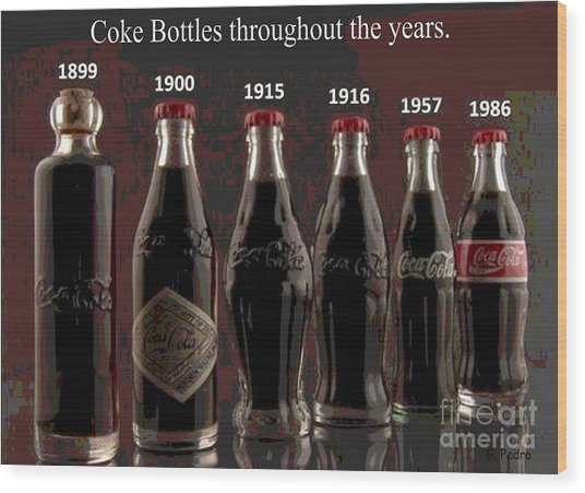 Coke Through Time Wood Print
