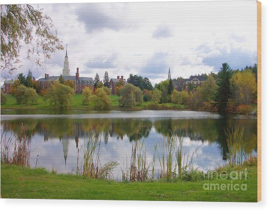 Colby College  Wood Print
