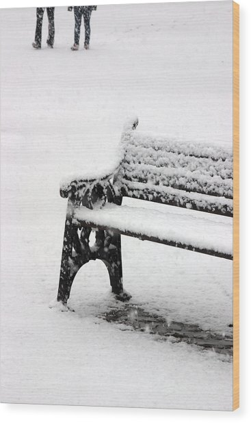 Cold Bench 2 Wood Print by Jez C Self