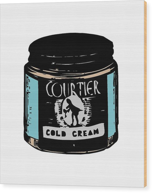 Wood Print featuring the digital art Cold Cream by ReInVintaged