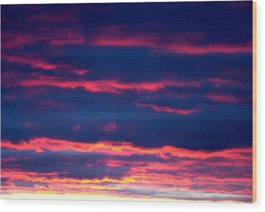 Cold Front Sunset One Wood Print by Ana Villaronga