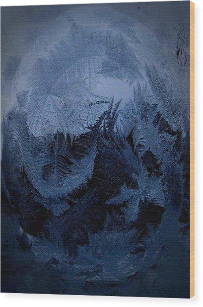 Cold Moon Rising Wood Print