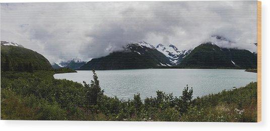 Cold Morning Panorama Wood Print