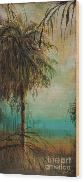 Cold Palm Marsh Wood Print by Michele Hollister - for Nancy Asbell