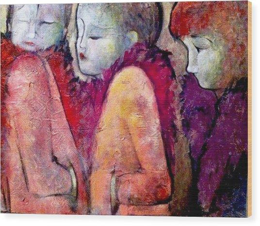 Cold Shoulders Wood Print