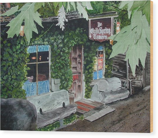 Cold Spring Tavern Wood Print by Dwight Williams