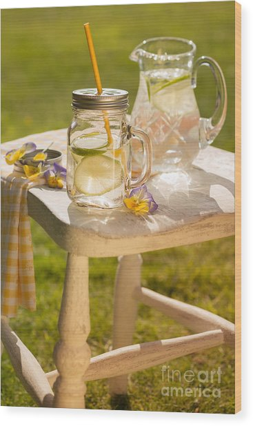 Cold Summer Drinks Wood Print