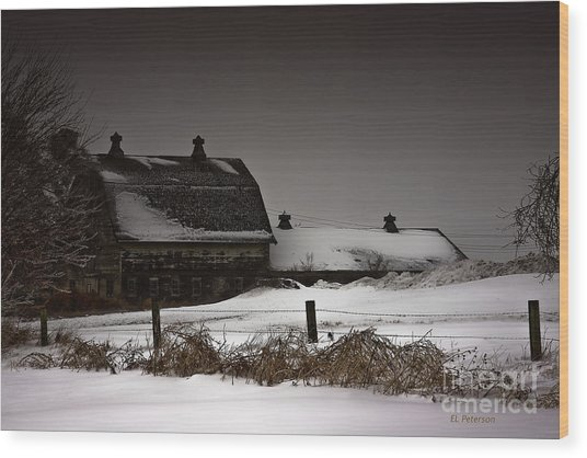 Cold Winter Night Wood Print