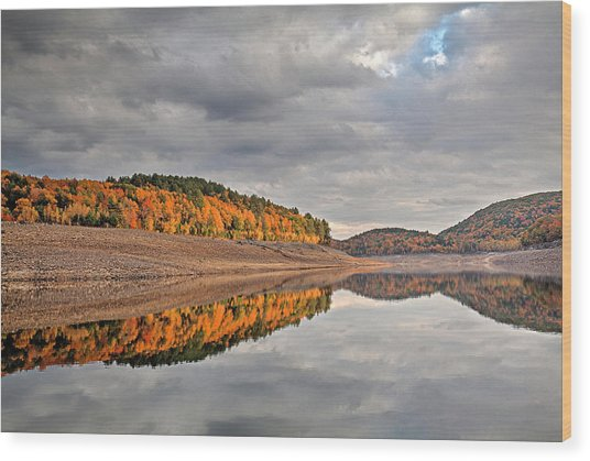 Colebrook Reservoir - In Drought Wood Print
