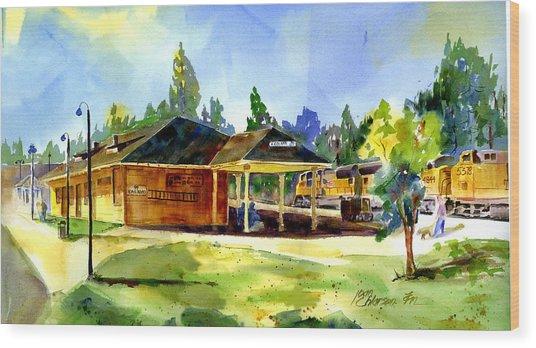 Colfax Rr Depot Wood Print
