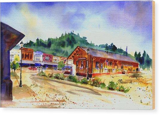 Colfax Rr Junction Wood Print