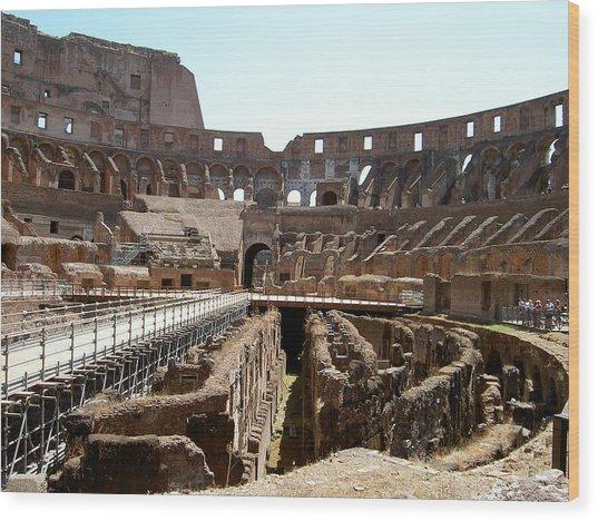 Coliseum 2 Wood Print by Blima Efraim