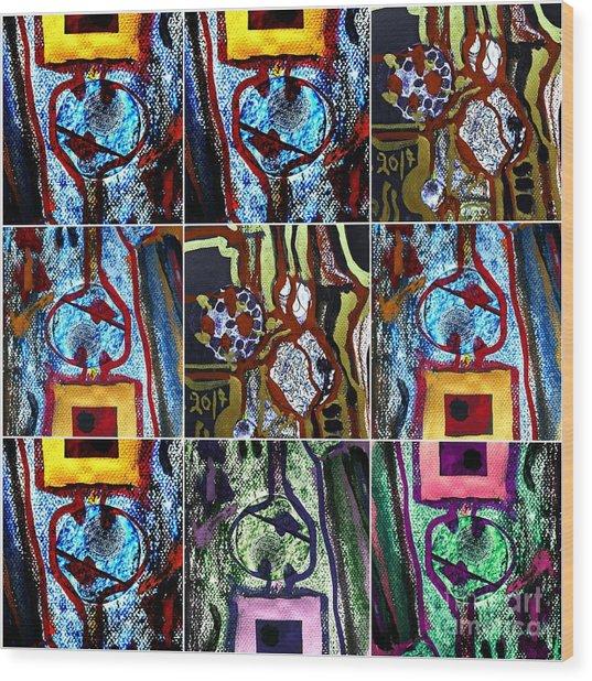 Collage-1 Wood Print