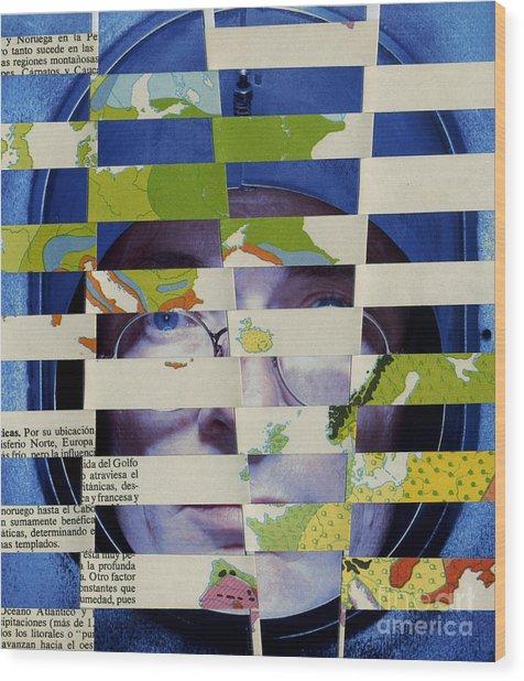 Collage Verso Wood Print