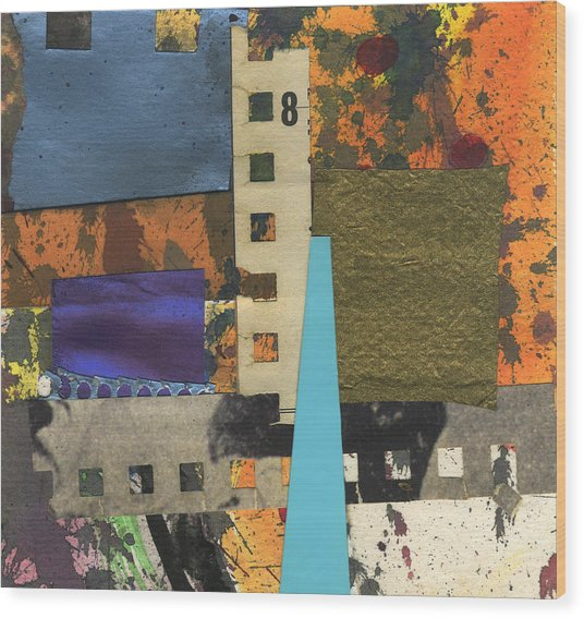 Collage5 Wood Print
