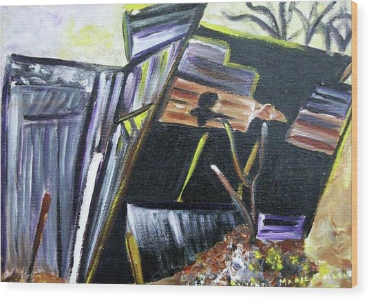 Collapsing Barn Wood Print