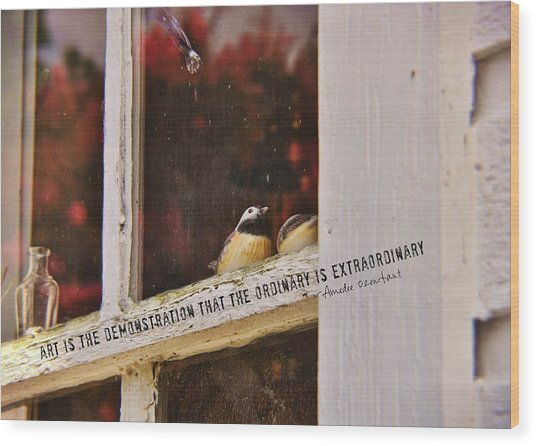 Collectibles Quote Wood Print by JAMART Photography