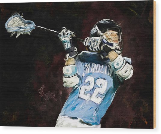 College Lacrosse 12 Wood Print by Scott Melby