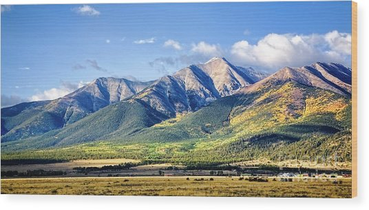Wood Print featuring the photograph Collegiate Range by Scott Kemper